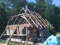 Raplamaa, Märjamaa vald, Pikamäe talu, Lestima küla, saunamaja ehitus 2009. aastal.