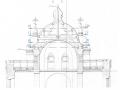 Nelitise läbilõige. Allikas: Katuse ja tornikiivrite põhiprojekt.