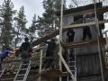 1. päev - Tellingute ehitus / Building of scaffolding
